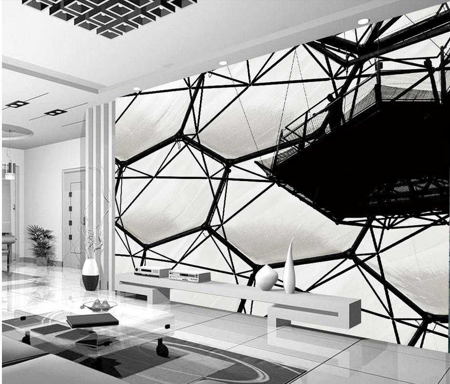 3d stereoscopic wallpaper Black and white water cube murals mural painting photos Home Decoration  free shipping hepburn classic black and white photos wallpaper old photos tv background wall mural wallpaper