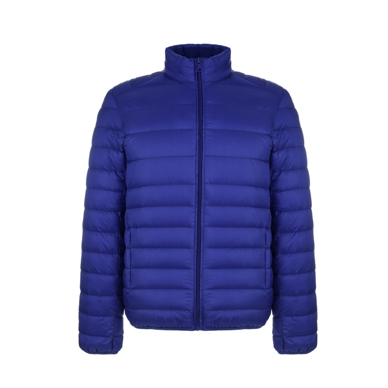 Autumn Winter New Men Lightweight Thin   Down   Jacket Casual Ultralight Male Feather Long Sleeve Warm Jackets   Coat   Ultra Light