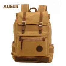 AUGUR модный мужской рюкзак, холщовая дорожная сумка для ноутбука, рюкзаки, женские рюкзаки, подростковые школьные сумки