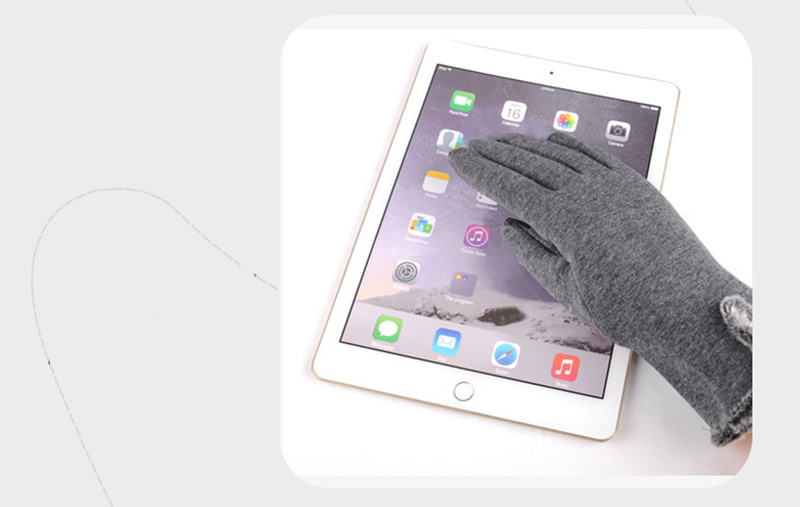Comfortable and Warm Non Inverted Touch Screen Gloves for Women with Sensitive Touch Screen Function without Hand Exposing to Cold 13