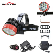 PANYUE LED Headlamp 7000LM Powerful Head Front light for bike 2 in 1 Function 7*T6 3 Mode Rechargeable Torch flashlight Set