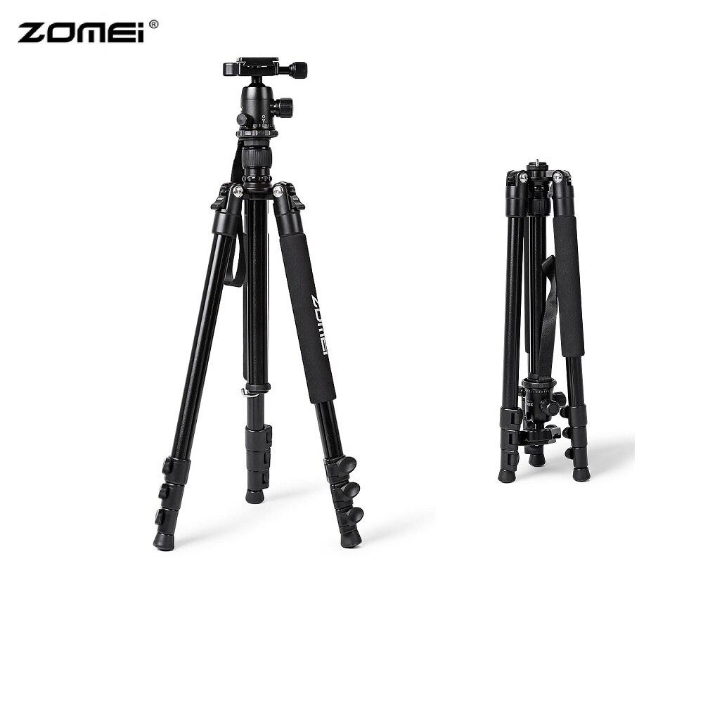 Zomei Q555 support de trépied d'appareil-photo Portable en alliage d'aluminium 360 degrés trépied rotatif Horizontal pour appareils photo DSLR