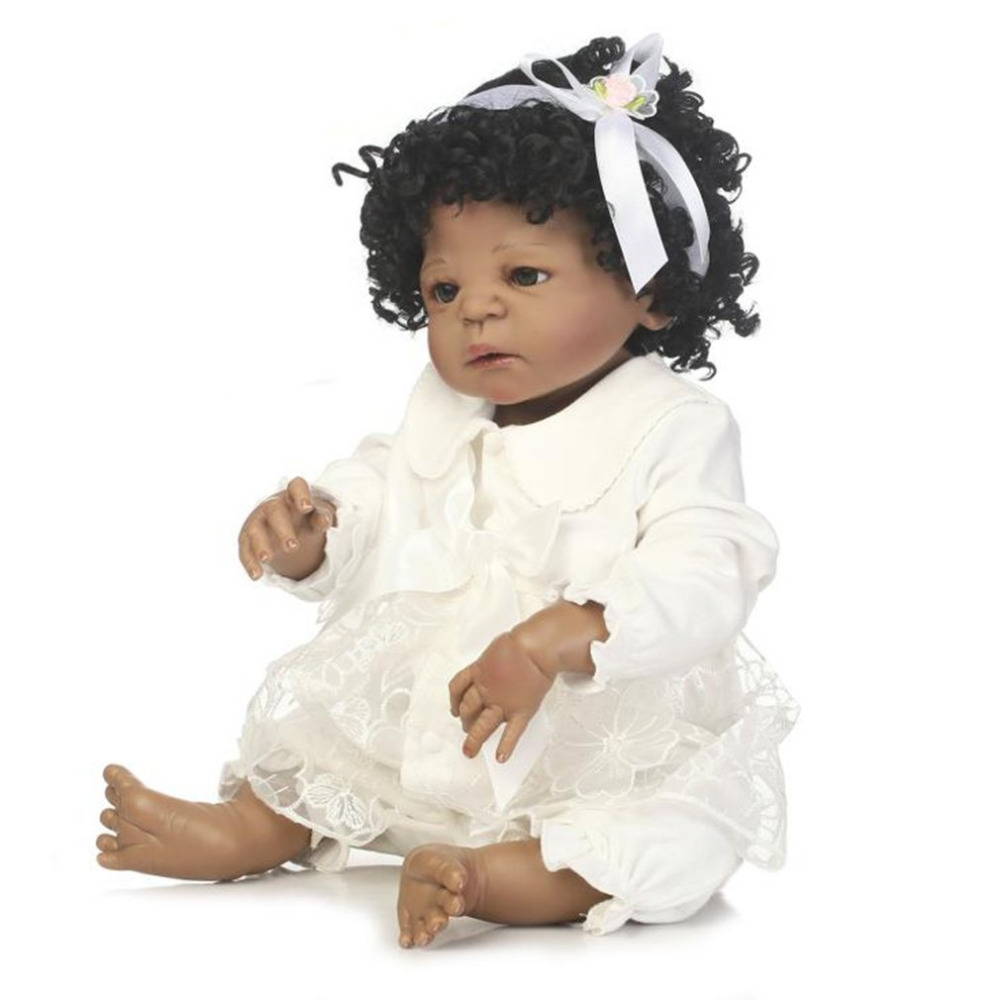 56cm Full Body Soft Silicone Vinyl Baby Girl Doll Non-toxic Safe Toys Handmade Adorable Lifelike Newborn Baby Doll Toys agatha christie the clergyman's daughter red house an agatha christie short story