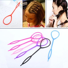 Pull Hair Needle Ponytail Hair Braider Creator Loop 2PCS/Lot Styling Tail Clip Hair Braid Maker Styling DIY Hairdressing Tools(China)