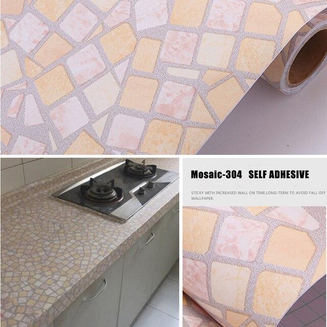 US $84.5 |91 cm x 5 m Mosaico Carta Da Parati Impermeabile Addensare  Antiolio Wall Sticker Cucina di Casa/Gabinetto/Bagno Con Doccia Auto  adesivo in ...