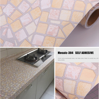 91cmx5m Mosaic Waterproof Wallpaper Thicken Oilproof Wall Sticker Home Kitchen/Toliet/Shower Room Self Adhesive