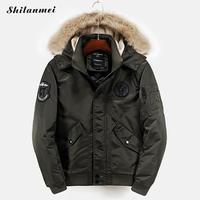 2017 New Fashion Hood Fleece Parka Jacket Men Winter Warm Casual Military Jacket Men Black Overcoat
