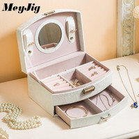 Jewelry Packaging Box Casket Box For Jewelry Exquisite Makeup Case Jewelry Organizer Container Boxes Graduation Birthday