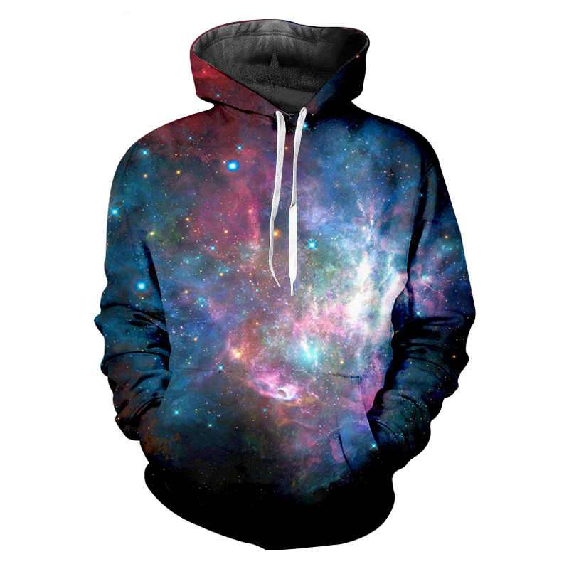 OGKB бренд оригинальные худи Для женщин/Мужская 3d пользовательские толстовка с изображениями печати Galaxy Толстовка с космическим принтом хип-хоп Crewneck пуловер с капюшоном