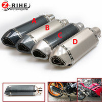 for Motorcycle parts Exhaust Universal 36-51mm Stainless Steel Motorbike Exhaust Pipe carbon For Aprilia RSV MILLE TUONO FALCO D