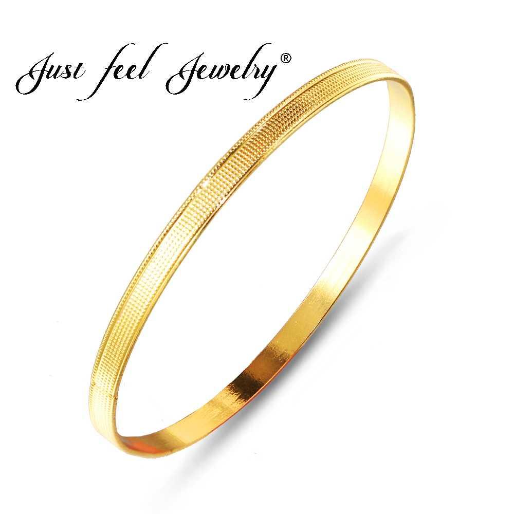 Simplemente siente el nuevo diámetro 6,8 CM etíope Unisex brazalete para mujeres hombre moda oro Color redondo cuentas pulseras Dubai África joyería