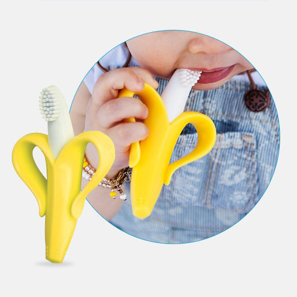 Safe Baby Teether Toys Baby Cute Crib Rattle Bendable Activity Training ToothBrush Toy Cheapest High Quality And Environmentally