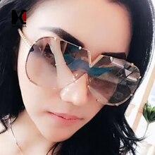SHAUNA Oversize Women Rimless Sunglasses Brand Designer Fashion Men Gold Reflective Pilot Shades UV400