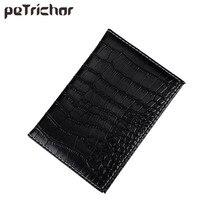New PU Leather Passport Cover Protector Fashion Alligator Embossing Travel Passport Case Men Women ID Credit