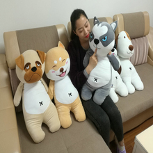 New Arrive Super Cute 1pc 80cm PP Cotton Firewood dog cute dog plush toys huskies pillow children Christmas birthday present