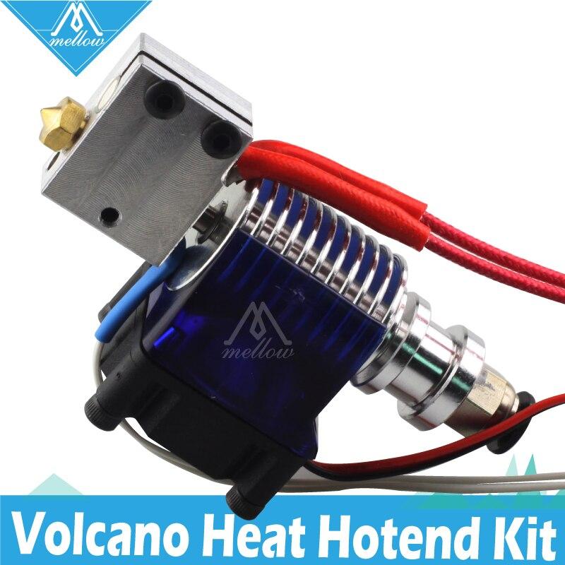 Suave 12 V/24 V 3D impresora volcán calentador de bloque de E3D V6 J-La PT100 salida Hotend con ventilador de refrigeración para bowden extrusora 0,4mm boquilla