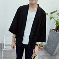 2016 autumn men jacket street fashion casual hiphop chinese cardigan male kimono loose thin coat plus size M-5XL