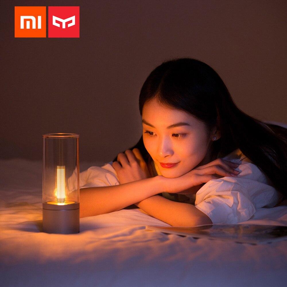Original Xiaomi Yeelight Candela Smart Led veilleuse USB Recharge atmosphère lampe de Table bougie électrique Bluetooth App contrôle