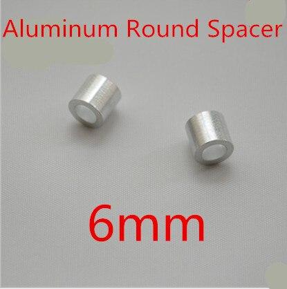 100 Stks/partij Hoge Kwaliteit M6.0 6.0mm Aluminium Kolom Ronde Spacer Verlichten Van Warmte En Zonnesteek