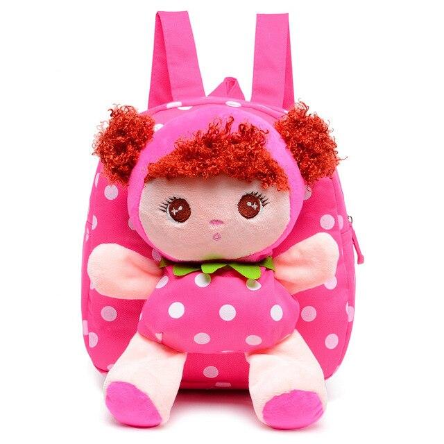 7b36fe780cef Winmax Kids Cartoon Baby Girls Cotton 3D School Bags Children Stuffed Plush  Toys School Backpack Rucksack