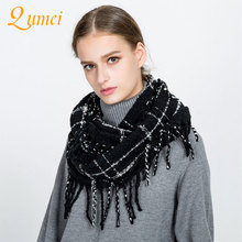5PCS umei knitted winter women scarf Woman plaid warm cashmere scarves shawls luxury brand neck bandana pashmina lady wrap AO21