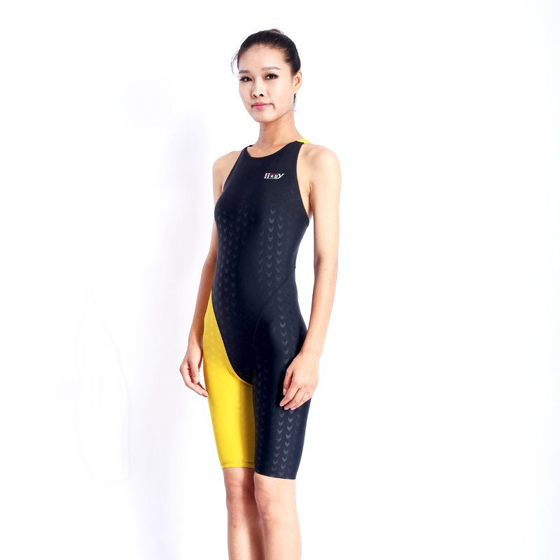 HXBY swimwear girls racing swimsuits sharkskin professional swimsuits knee one piece competition swim suits one piece 10