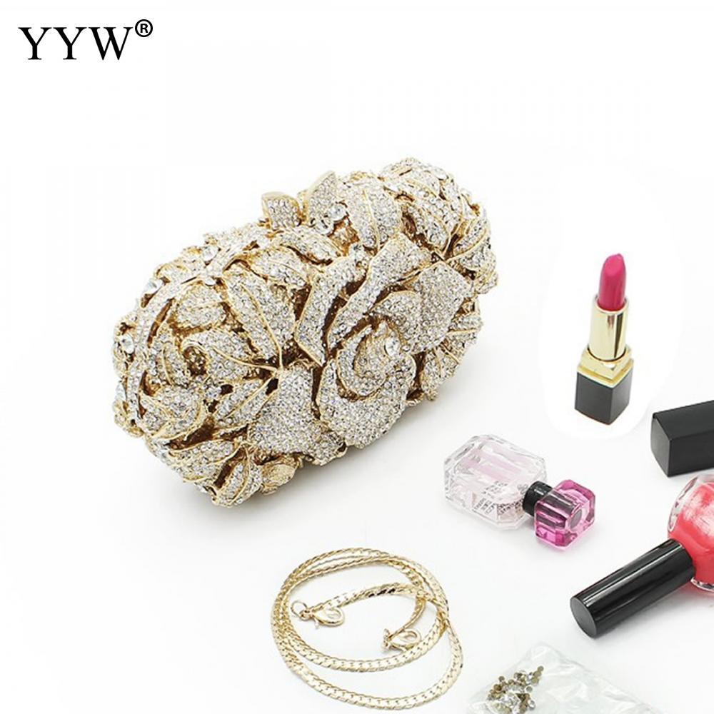 Sac Femelle Diamants Cristal Mujer Soirée De Bourse Mariage Strass Yyw Bolsos Partie Fleur D'embrayage Embrayage Date qwagRg