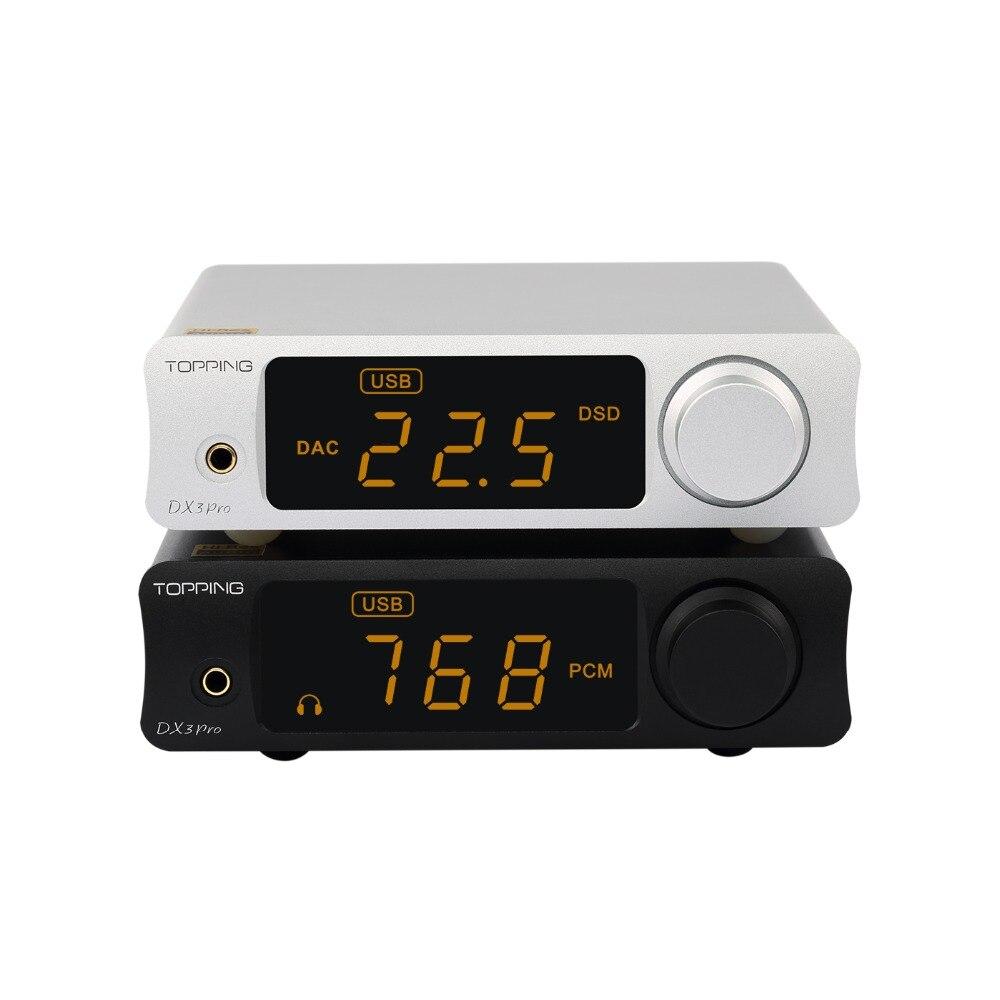 USB DAC GARNITURE DX3 PRO De Bureau Bluetooth ATPX Décodeur Casque Amplificateur Amplificateurs Amp Xmos xu208 AK4493EQ + OPA1612 DSD512