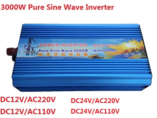 цена на Peak power 6000W dual digital display 3000W pure sine wave inverter dc 12V/24V to ac 110V/220V Pure Sine Wave Inverter