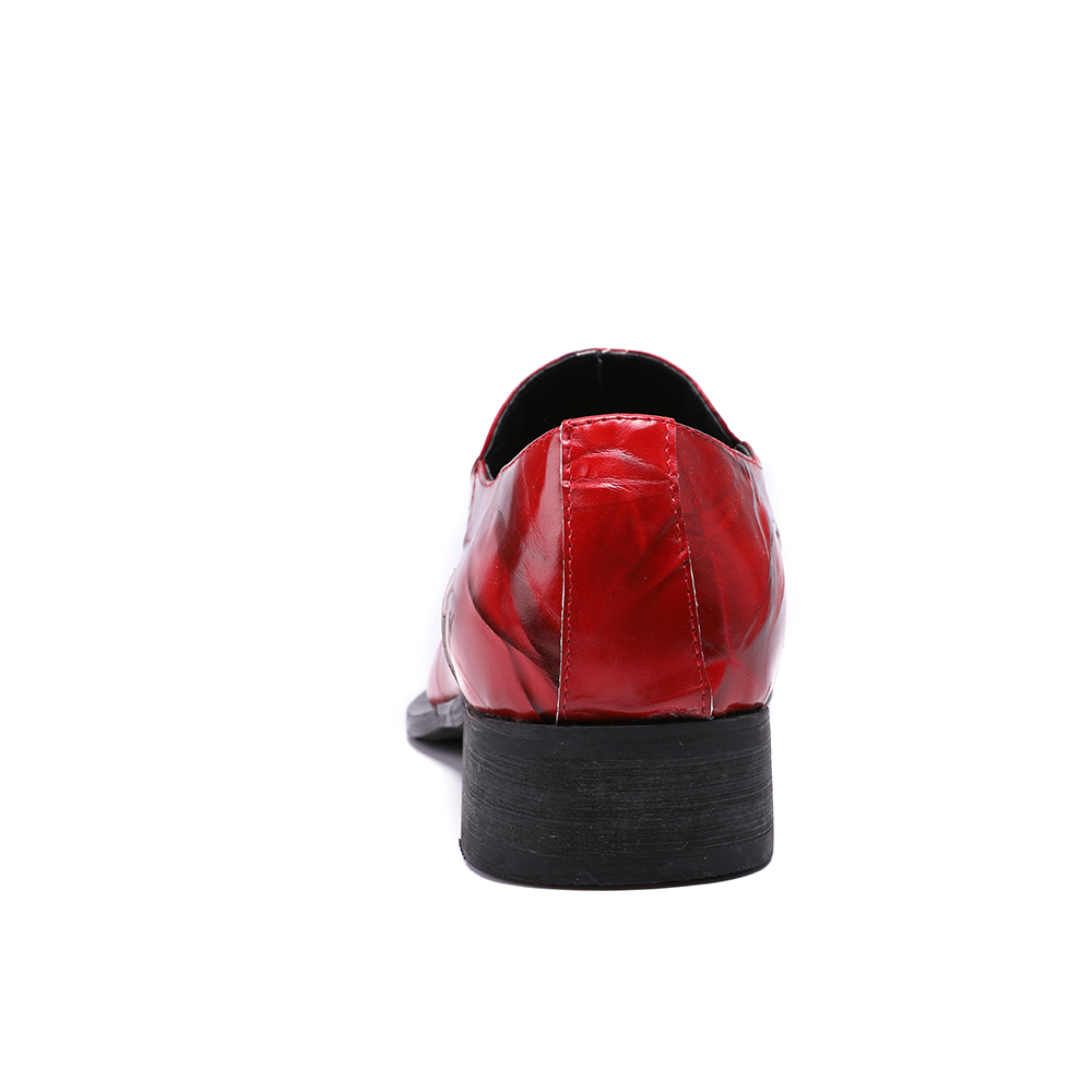 Sapatos Couro Size Sapato Toe Moda Festa Formal Bella Noiva Christia De Masculino Plus Vestido Marca Vermelho Homens Oxford Genuíno Metal q6XvaA