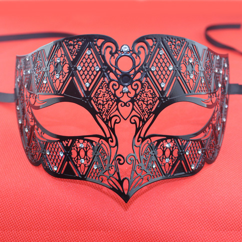 Retro Laser Cut Christmas Metal Mask Half Face Prom Masks Masquerade  Costume Mask Party Decoration 5pcs 5ac845b84bd0