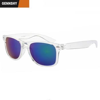 Lentes Gafas Blanco Plástico Diseño Marco Sol 2018 Moda Transparente Hombres De Marca Vintage Espejo Verde Uñas srtQChd