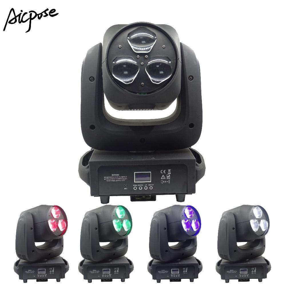 3x40 W Luz de haz RGBW 4in1 LED ojos de abeja Zoom luces de cabeza móvil para la luz de la barra de discoteca de la boda iluminación de escenario