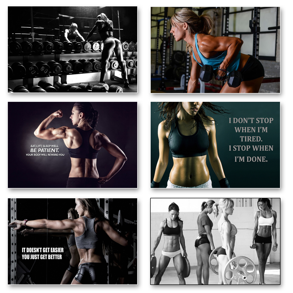 """Body Building Keep Fit Muscle Exercise Work Out 24/""""x13/""""Wall Poster 023 GYM"""