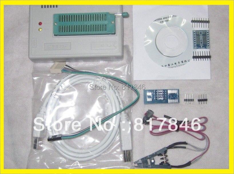 Free shipping English&Russian files V6.6  MiniPro BIOS EEPROG USB Universal Programmer TL866A+3items better than TL866cs ezp2013 электронные компоненты ch341a 24 25 usb bios sop8 sop16 dip8