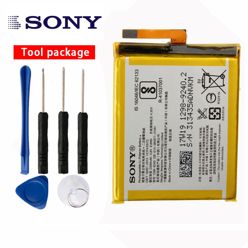 Original Sony High Capacity Phone <font><b>Battery</b></font> For SONY <font><b>Xperia</b></font> <font><b>XA</b></font> F3112 F3111 F3313 F3116 E5 F3115 LIS1618ERPC 2300mAh image