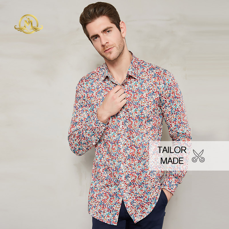 purchase genuine factory outlet good service US $136.0 31% OFF|Wrwcm 100% Cotton Men Custom Shirt Tailored Print Long  Sleeve Stand Collar Gentleman Custom Made Business Casual Tailored  Shirts-in ...