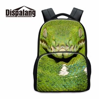 Dispalang Snake Animal College Laptop Backpack For School Cool Boys Double Shoulder Bags Zoo Kids Large
