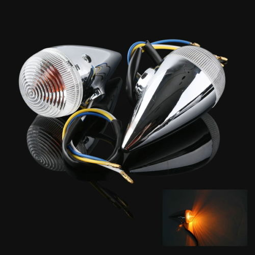 Motorcycle Clear Bullet Front Turn Signal For YAMAHA XV1900 2006-2013 07 08 09 10 11 12 New