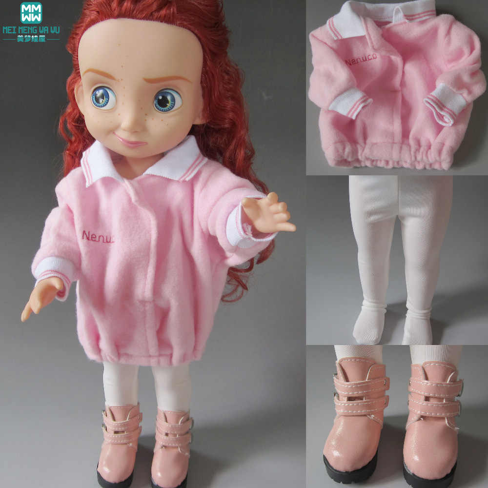 Pink thicker Clothes, socks, shoes for dolls fits salon dolls Accessories