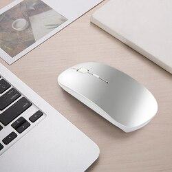 Mysz Bluetooth dla Lenovo Dell Asus HP Acer Huawei Laptop Macbook Air PC bezprzewodowa mysz akumulator wyciszenie cicha mysz do gier