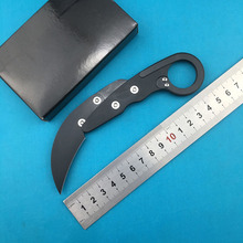 New mechanical claw D2 steel folding knife aluminum alloy camping hunting outdoor fruit knife EDC tool sanjia k8009 mechanical lock folding knife