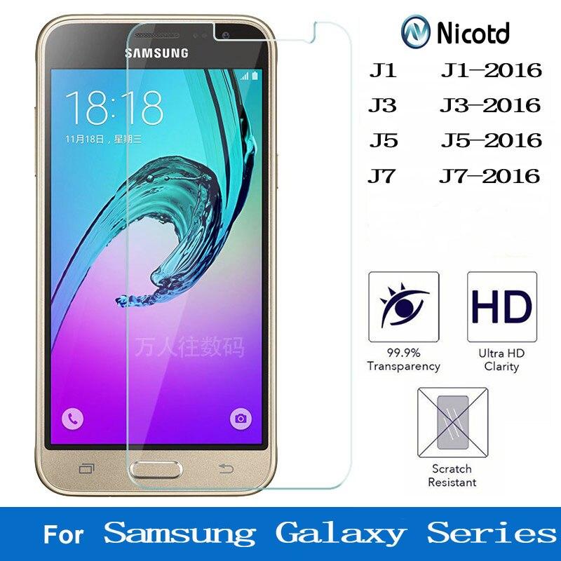 Tempered Glass For Samsung Galaxy J1 J3 J5 J7 2016 Alpha Grand Prime 9h Screen Protector For Samsung J710F J510F J500 J320F J700