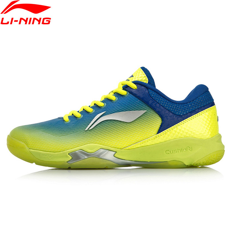 Li-Ning Men ATTACK Professional Badminton Training Shoes Cushion Wearable LiNing BOUNSE+ Sport Shoes Sneakers AYZN005 SOND18