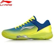 لى نينغ الرجال هجوم المهنية الريشة أحذية تدريب وسادة يمكن ارتداؤها بطانة بونس + أحذية رياضية أحذية رياضية AYZN005 SOND18