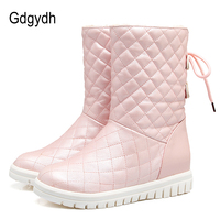 Gdgydh Comfortable Women Snow Boots Plush Inside Winter Warm Shoes Woman 2017 New White Outerwear Shoes