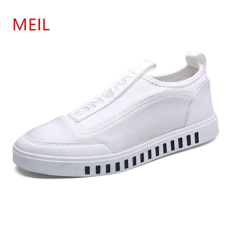 Canvas Shoes Men 2018 Summer Mens Loafers Casual White Slip On Shoes Men Breathable Shoes for Men Male Footwear Mens Trainers