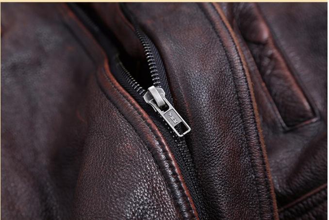 HTB1w7M4a.GF3KVjSZFoq6zmpFXa1 Free shipping.Plus Size classic leather jacket,short genuine leather coat,vintage brown mens slim leather coat.business,sales