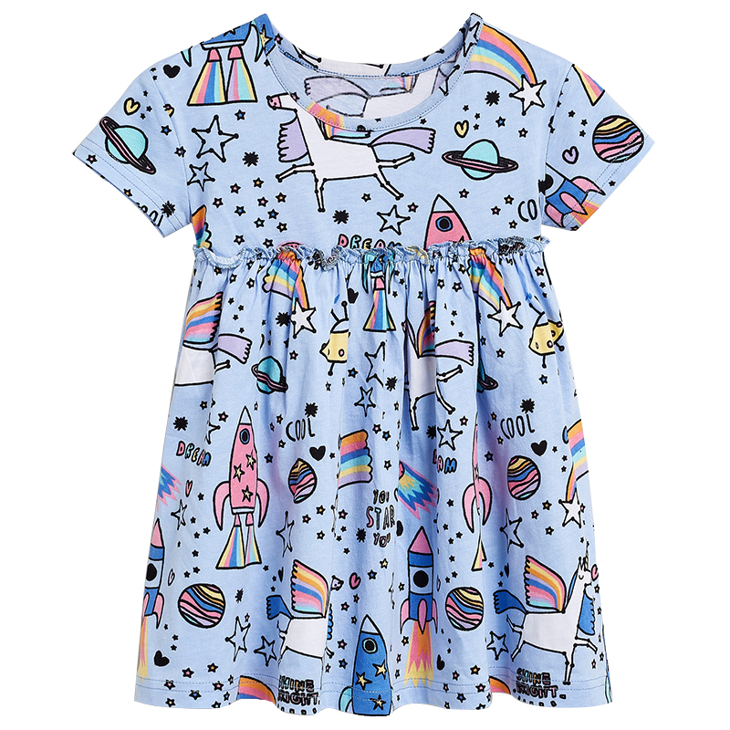 2019 Unicorn Summer season Women Costume Get together Princess Clothes Child Gril Garments Youngsters Costume Style Model Children Clothes Printing