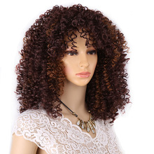 Amir Brown Wig Synthetic Curly wig for Women With Baby Hair Wigs Cosplay Perruque Black Blonde Burgundy Full wig